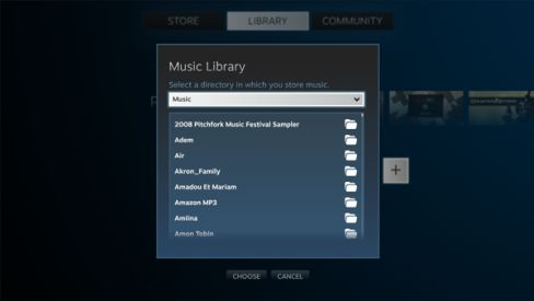 Steam Music Browser