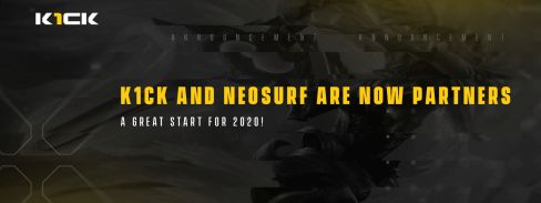 K1ck and Neosurf Partner up!